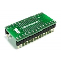 "Adapter SOIC28 / SOP28 / SO28  (R=1,27mm) --> DIL28 (PDIP28  15,24mm/.600"")"