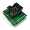 Adapter SSOP28 / TSSOP28 (R=0,65mm / W=200mils) -->DIL28 (R=2,54mm / W=400mils) Open Top ZIF