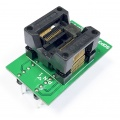 Adapter SSOP28 / TSSOP28 (R=0,65mm / W=250mils) -->DIL28 (R=2,54mm / W=300mils) Open Top ZIF