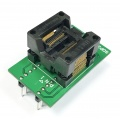 Adapter SSOP30 / TSSOP30 (R=0,65mm / W=250mils) -->DIL30 (R=2,54mm / W=300mils) Open Top ZIF