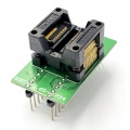 Adapter SSOP34 / TSSOP34 (R=0,65mm / W=250mils) -->DIL34 (R=2,54mm / W=300mils) Open Top ZIF