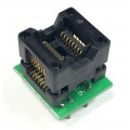 Adapter uniwersalny SOIC16 / SOP16 / SO16 (150mil) --> PDIP16 / DIL16 (300mil) open top ZIF