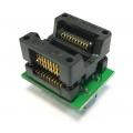 Adapter uniwersalny SOIC20 / SOP20 / SO20 (200mil) --> PDIP20 / DIL20 (300mil) open top ZIF