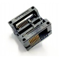 Adapter uniwersalny SPI Flash SOIC16 / SOP16 / SO16 (300mil) --> PDIP8 / DIL8 (300mil) open top ZIF